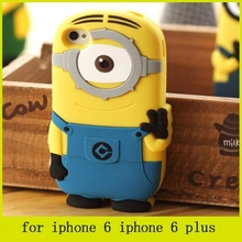 hot selling cheap price minion 3d silicone cover case despicable me minion case for iphone 6 iphone 6 plus