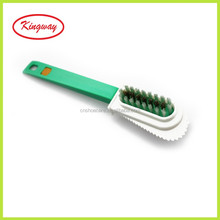 Nubuck and Suede Multifunctional 4-Sided Cleaning Shoe Brush, Brass and Nylon Bristle, Cleans and Gives Perfect Nap