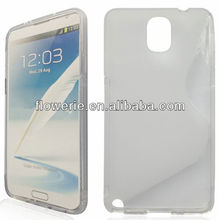 FL26912 2013 Guangzhou hot selling soft s line silicone Case Cover for samsung galaxy note 3 n9000