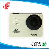 "4k 25fps 2.0"" LCD 173degree wide angle action camera waterproof mini wifi 4k sport camera"
