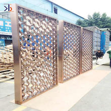 customized 304 stainless steel decorative laser cut metal screen divider