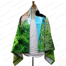 High quality comfortable digital printing sport bath towels for swimming pool beach surfing