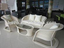 Stylish Popular aluminium Cane Rattan Garden sofa Furniture