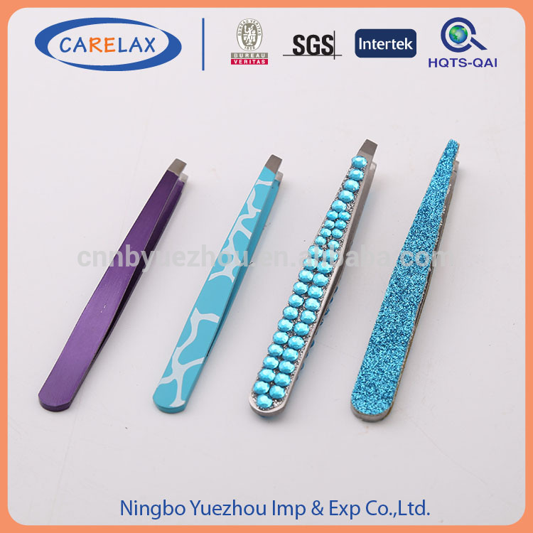 competitive price Cleanroom silver stainless steel curved tweezer