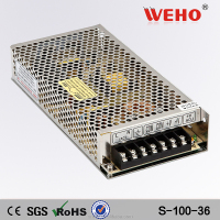 2 years warranty ac to dc led power supply 100w led driver 36v
