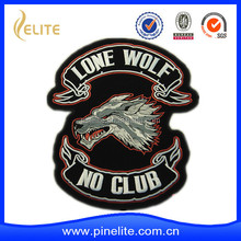 Custom OEM high quality wolf embroidery patch for motorcycle leather jacket