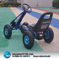 Pedal go kart with high rubber pneumatic air tyre