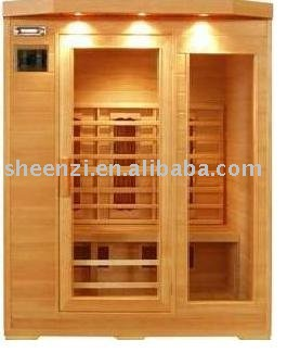 Household Fir infrared healthy sauna room for 3 persons