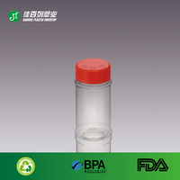small nimi flip cap spice packing plastic clear pet salt bottle