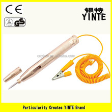 China manufacture vehicle tools car battery tester/electric circuit voltage tester pen with full copper