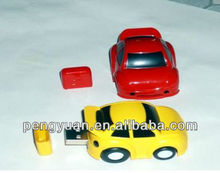 Hot sale made in china Large auto show promotion gift plastic mini car usb thumb drive with logo
