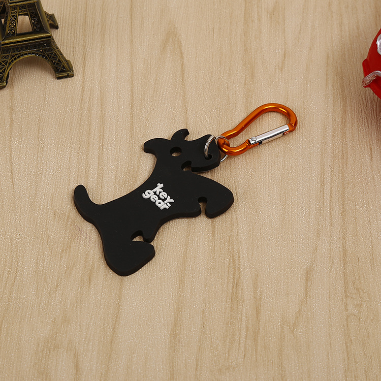 Promotion gifts cheap custom silicon keychain wholesale