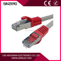 Hot sale high quality cat 6 ftp cable flat patch cord cables/cat6 rj45 shielded patch cord