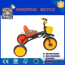 top quality plastic baby kids Tricycle /children's baby trike tricycle with back seat for sale