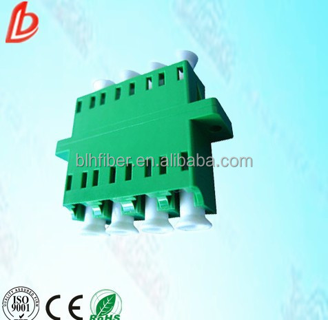 LC squared fiber optic adapter / connector with Zirconia sleeve / lc apc adapter