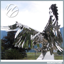 Russia Art Stainless Steel Outdoor Eagle Statues