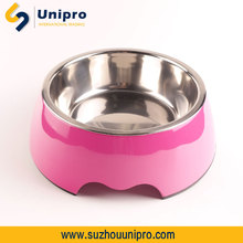 Melamine and Stainless Steel dog feeding bowl new pet products