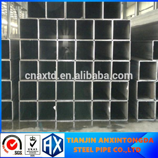 2016 hot sale square tube black painting black iron square hollow steel pipe/shs rhs tube of AXTD