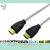 Single color moulded HDMI Cable with Ethernet and gold connector support 3D and 4K from 0.5-100m