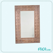 Hand wood carve mirror frame indonesia , brown wood mirror with frame