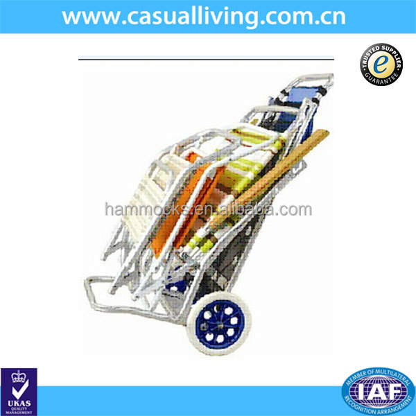 Aluminum Beach Table Cart, Folding Beach Trolley Cart