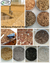 epoxy 3D flooring paint epoxy resin kitchen countertop paint Composit rock chips/ Color flakes