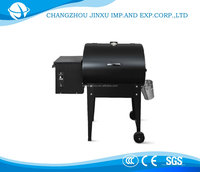 Cast iron garden used rotating charcoal bbq grill