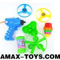 nbt-807234A kids bubble gun Multifunctional children flying disk bubble gun set with flashing top