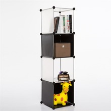 simple to pure color PP plastic diy storage 4-cube