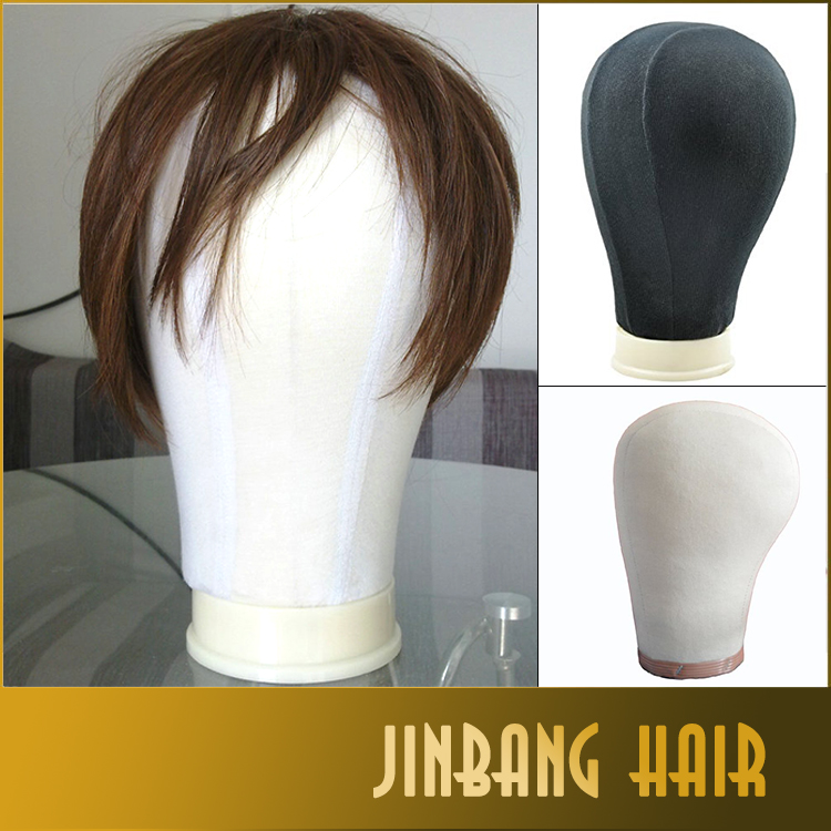 24inch Canvas Block Head for Wig Making Poly Mannequin Canvas Foam Block Head