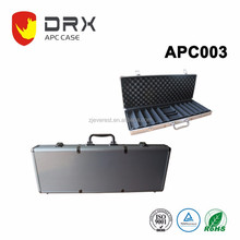 grey portable aluminum tool box With Handle For gun