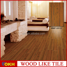 noise reduction flooring wood look tile, non-slip 3d inkjet porclain tile
