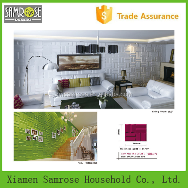 professional supplier china home decor wholesale environmental 3d panel wall
