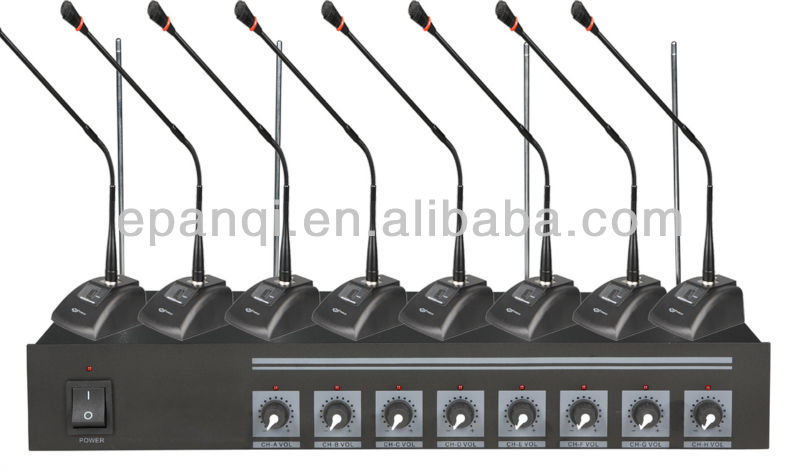 8 wireless conference microphones+ one mic stand