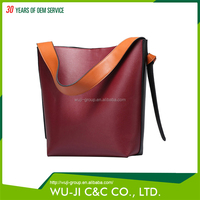 Top Grain Lady Leather Women's Color Block Hobo Diaper Bag Leather