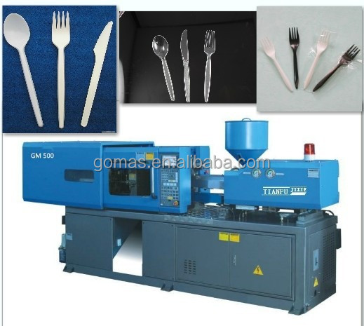 Automatic plastic spoons/forks making machine