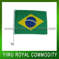 2014 World Cup Polyester Flying Brazil Car Flag