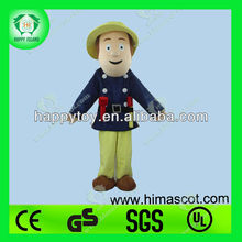 HI EN71 fireman sam mascot costume for adults