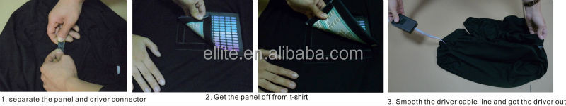 Creat your own logo flashing light up programmable led shirt