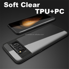 High clear transparent tpu pc 2in1 mobile phone back cover case for samsung galaxy s8 / S8plus