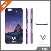 Owned brand julesve high quality star Series durable phone case pc case cover for iphone 6 plus