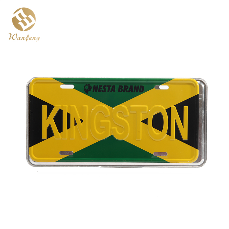 Wholesale Cheap Custom Printed New Style Aluminum Car License Plate