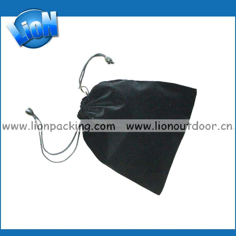 professional wholesale alibaba black velvet pouch singapore