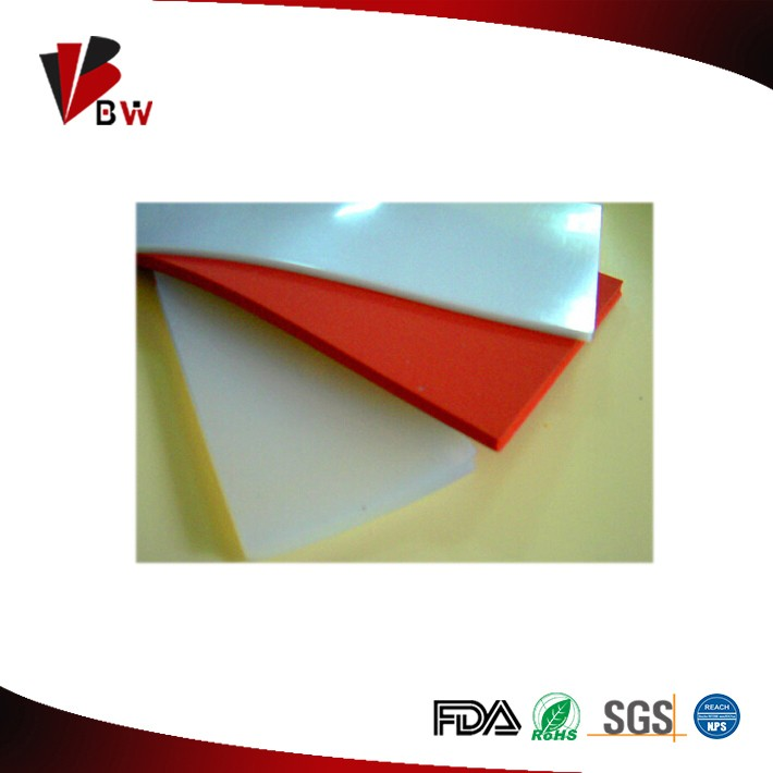 Custom made food grade silicone rubber sheet