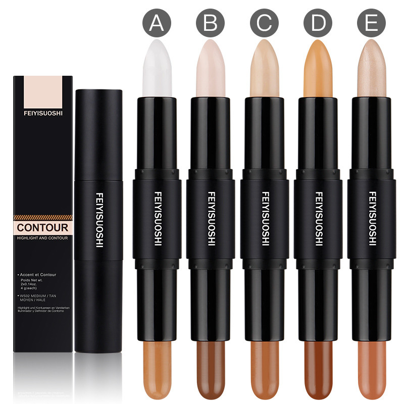 Double-ended 2 In1 Contour Stick 3d Mineral Concealer Face Makeup highlighter makeup