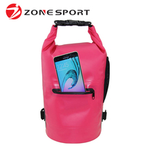 2017 high quality custom logo PVC Backpack dry waterproof bag with zipper