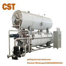 water immersion full automatic industrial horizontal retort sterilizer cooked food sterilization machine