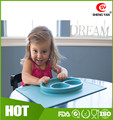 FDA All-in-One smiley silicone kids feeding placemat
