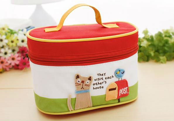 Lovely canvas make-up case,make up bags
