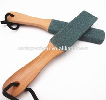High Quality Beech Handle Natural Pumice Curved Wooden Foot File
